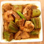Aloo Parwal Prawn - Pointed Gourd Shrimp